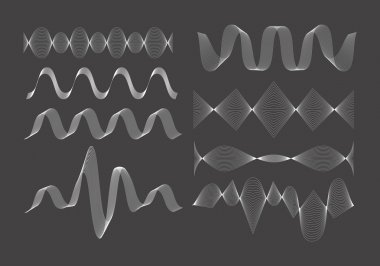 Set of vector sound waves.