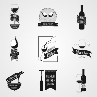 set of wine logo or poster concepts