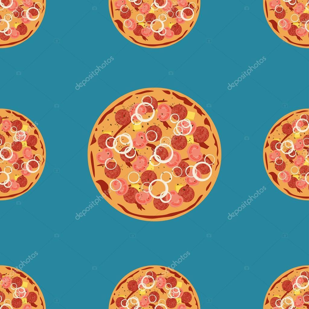 Modle Sans Couture De Vecteur Pizza Peut Tre Utilis Pour Le Menu Cration Cartes Visite Affiches Dcoration Vitrines Magasins Et La