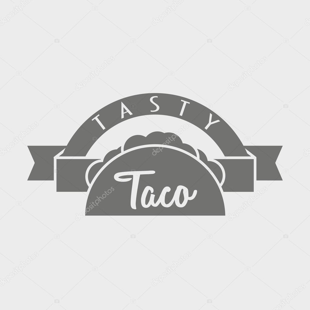 Concepto de logotipo vectorial Taco o plantilla. Ilustración puede ...