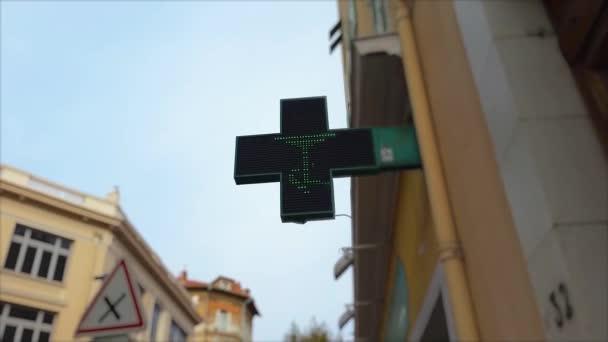 Pharmacy Neon Green Cross Sign