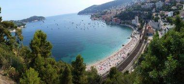 Panoramic view of Villefranche-sur-Mer (Cote d Azur)