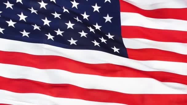 Realistic Closeup USA Flag 4K