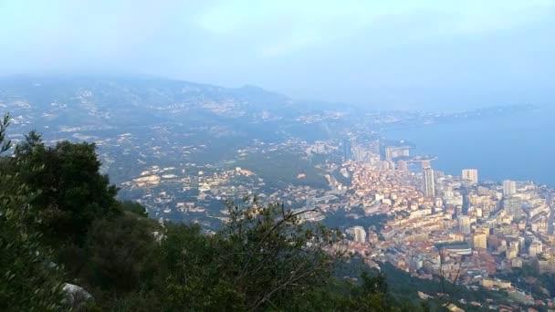 A légi felvétel a Monaco 90 fokos idő telik el