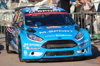Evans Elfyn Ford Fiesta RS WRC2 - Monte Carlo Rally 2016
