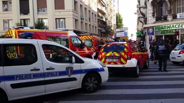 French Police cars and Firefighters Trucks