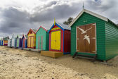 Pestré lázeňských domech v Dendy ulici Beach, Brighton v Melbourne
