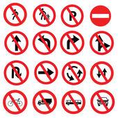 Fotografie Verkehrszeichen, Verkehrszeichen-Vektor-Satz auf weißem Hintergrund