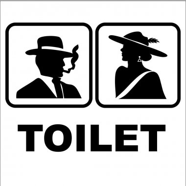 Restroom or toilet male and female sign vector illustration