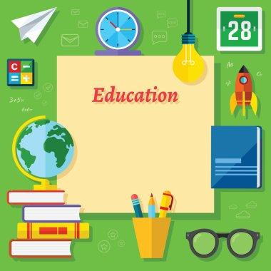 Education Vector Flat Elements
