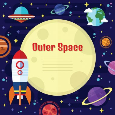 Vector Flat Outer Space Elements