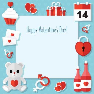 St. Valentine's Day Icons Set