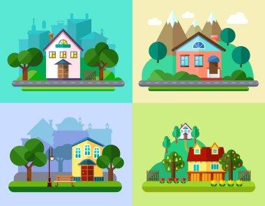 Flat Urban and Village Landscapes