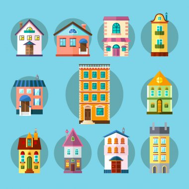 Flat Collection of City and Town Buildings