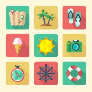 Traveling Icons Set