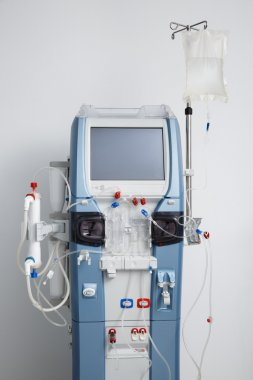 Hemodialysis machine with tubing and installations