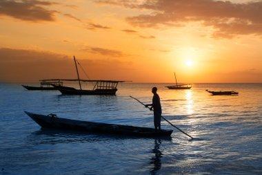 Traditional boat on Zanzibar coast