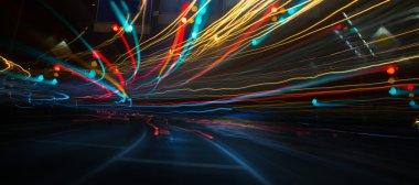 Traffic lights in long exposure