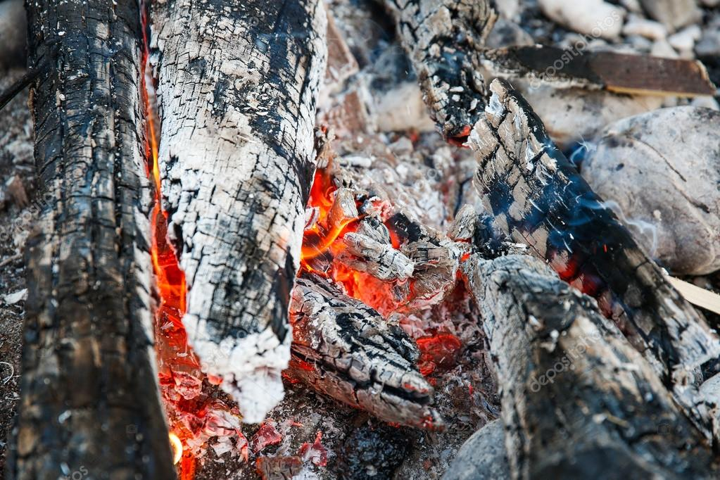 Embers of a self-made campfire