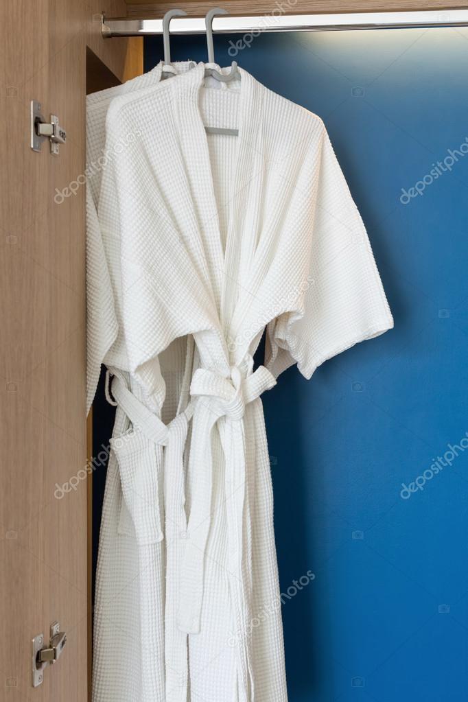Two white shower gown — Stock Photo © 8meg #93489812
