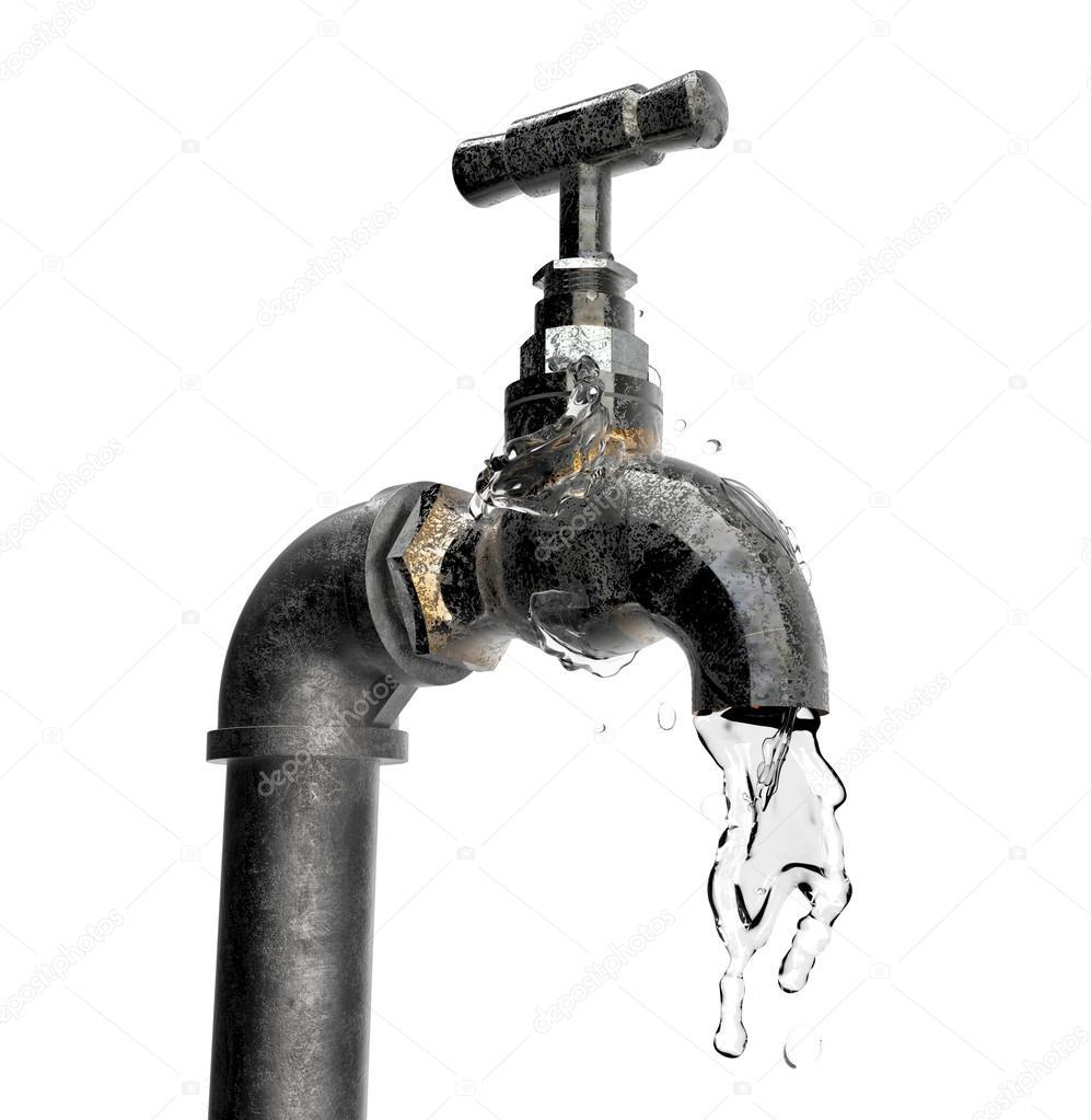 Alte Wasser Hahn Isoliert Stockfoto C The Lightwriter 102859846