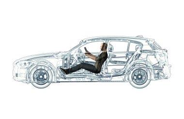 xray self driving electronic computer car