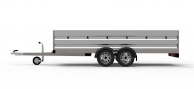car trailer isolated on white