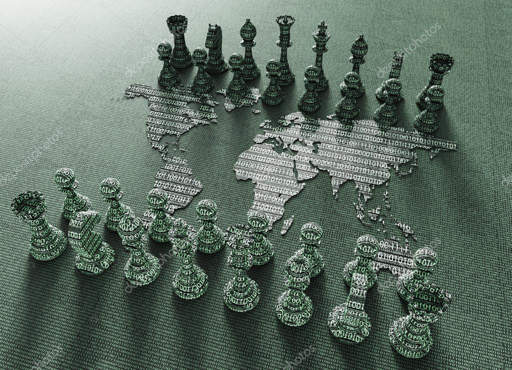 Digital world map chess board with chess play stock photo digital world map chess board with chess play stock photo gumiabroncs Choice Image