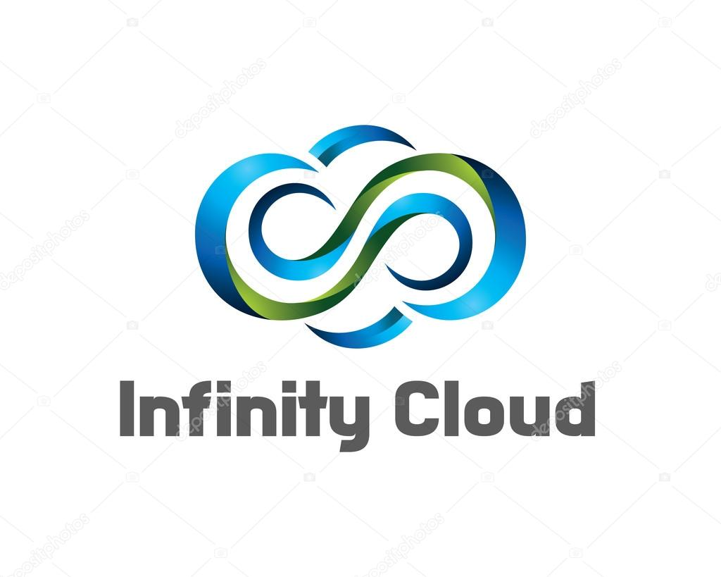Infinity Cloud Logo Design Vector Cloud Logo Template 3d Cloud