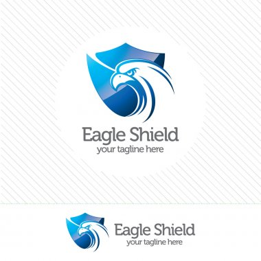 Eagle shield security logo , abstract symbol of security. Shield