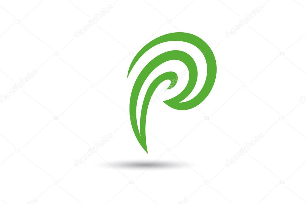 letter p logo design simple and clean logo design template stock