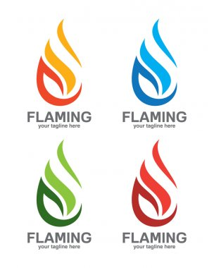 Vector flame logo for industrial gas company . stock vector