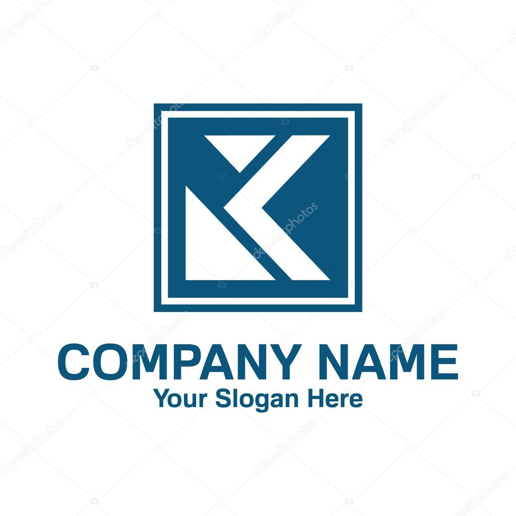 Letter K logo template. Suitable for media, agency, business, or any ...