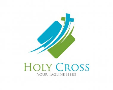 Cross vector logo design template.