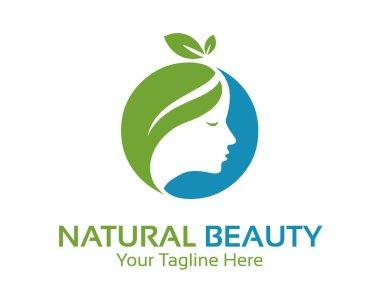 Natural beauty logo design vector.