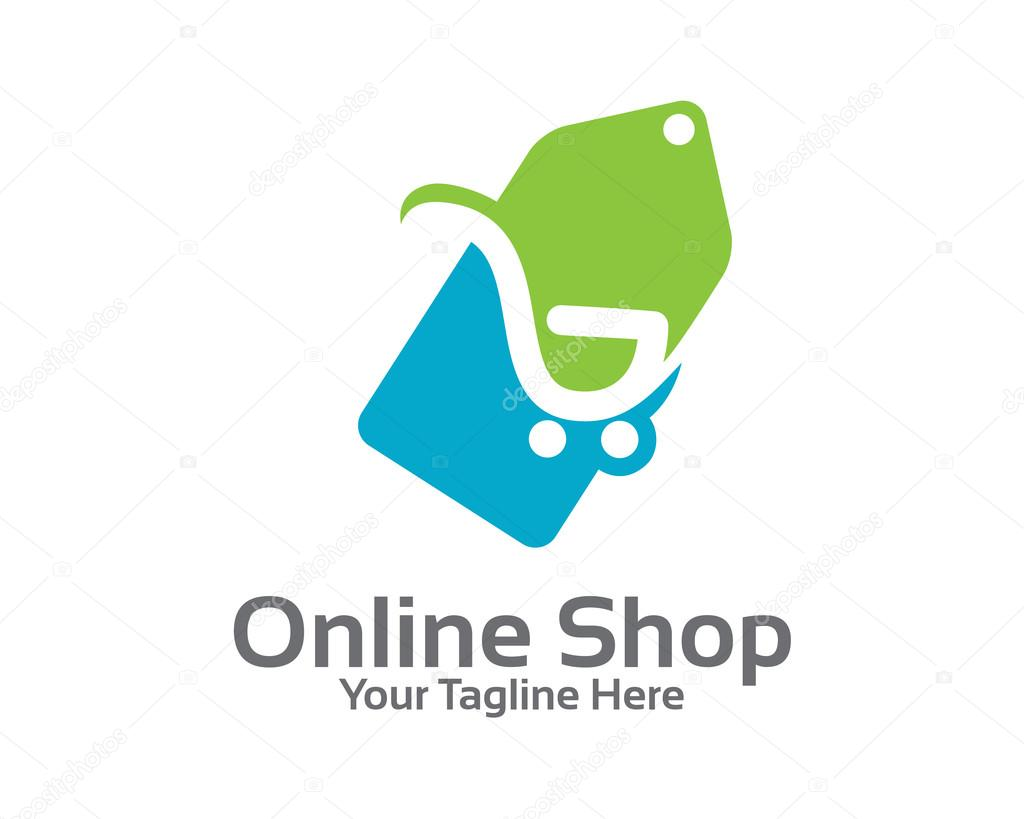 Online store logo design vector stock vector mahabiru for Design online shop