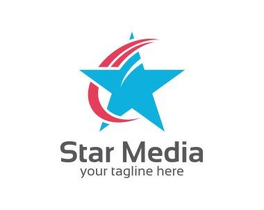 Abstract star logo template. Star vector logo design .