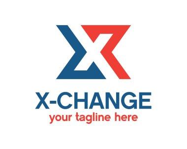 Letter X Logo design vector.