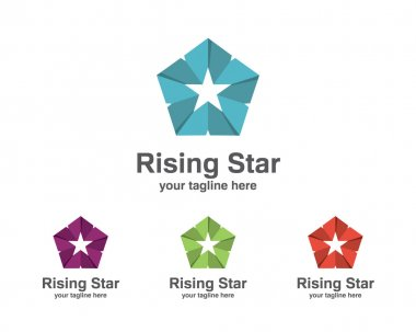 Abstract star business identity logo template. Star vector logo
