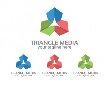 Abstract triangle logo design vector for business corporate identity. Simple and clean flat design triangle icon vector.