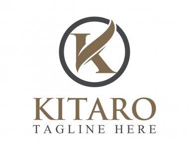 Business corporate letter K logo design vector. Colorful letter K logo vector template. Letter K logo for technology