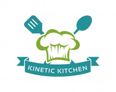 Simple and flat restaurant logo vector. Kitchen logo badge with chef hat .