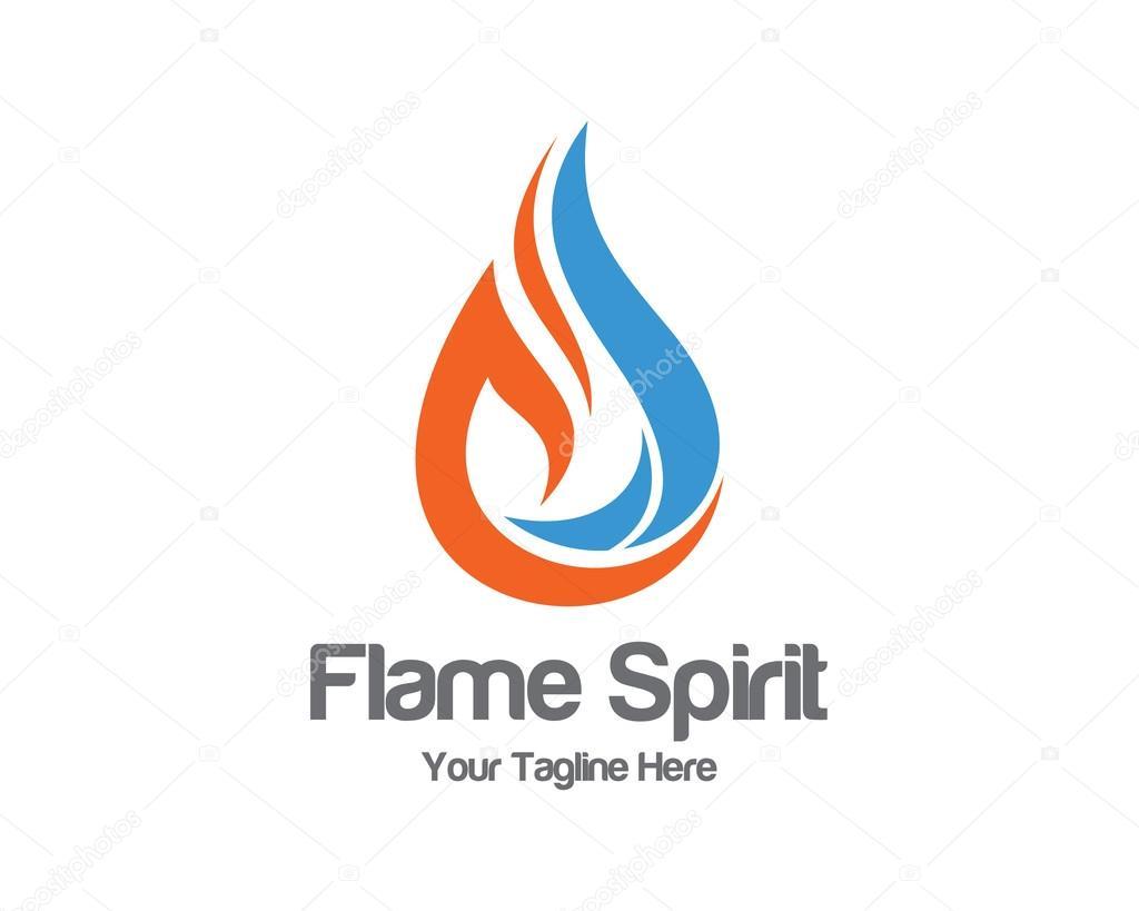 flame logo template oil and gas logo vector fire vector