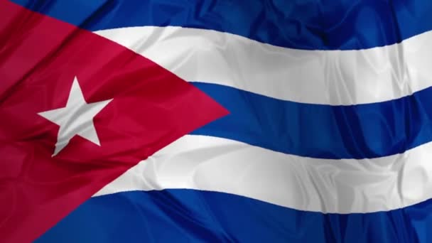 the Cuba flag waving