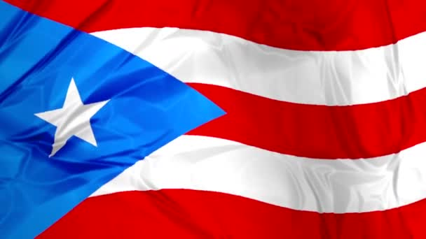 Puerto Rico flag waving