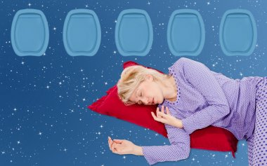 Woman Sleeaping on flight