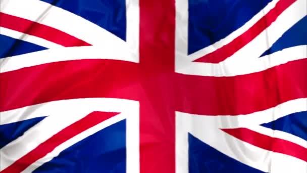 Vlajka Anglie mává