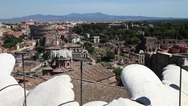 Letecký pohled na římské fórum
