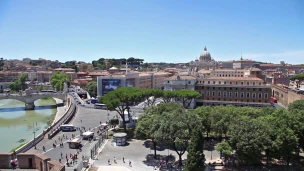 Řím Tiber Panorama
