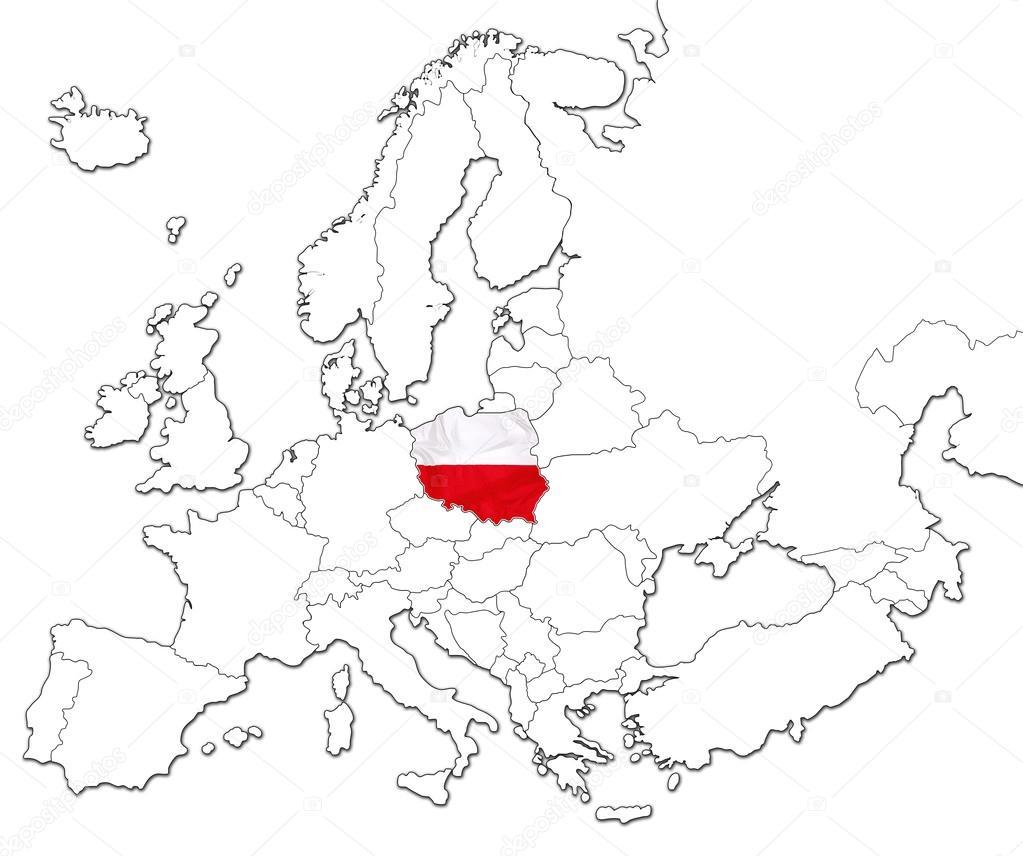 Map Of Poland Stock Photo C Bennymarty 123543392